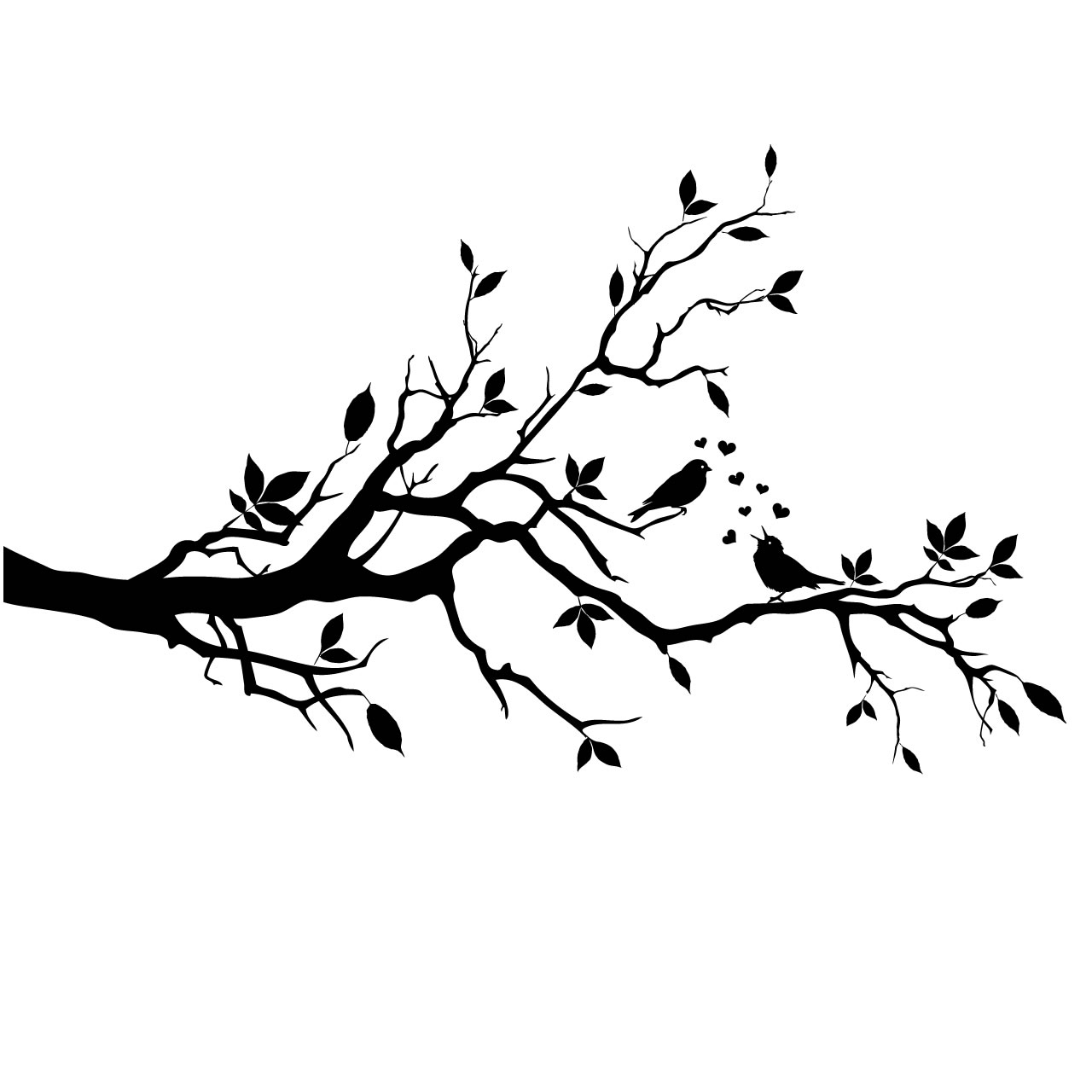 Love Birds In Tree Clipart .-Love Birds In Tree Clipart .-6