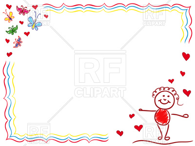 Girl in Love, hand drawing frame, 98933, download royalty-free vector  vector ClipartLook.com