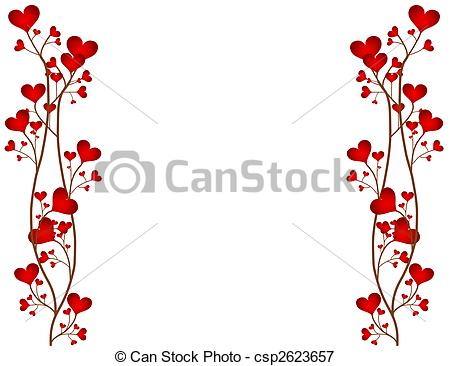 Love Flower Frame - csp2623657