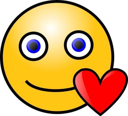 Love Heart Smiley clip art .