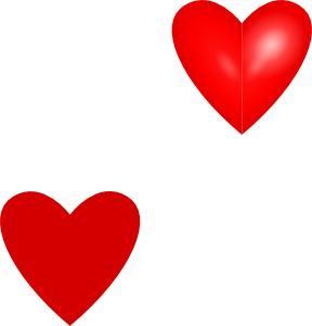 Love Hearts clip art free . - Love Heart Clipart