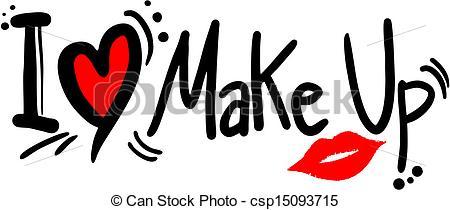 ... Love makeup - Creative design of love makeup Love makeup Clipartby ...