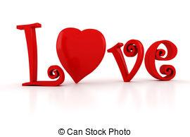 . ClipartLook.com 3d Love text, Valentineu0027s Day concept