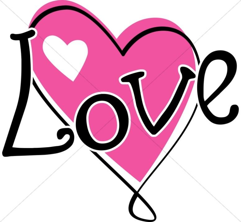 twisty Pink Love Heart