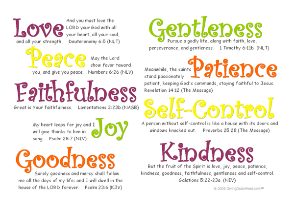 Love the Fruit of the Spirit Clip Art