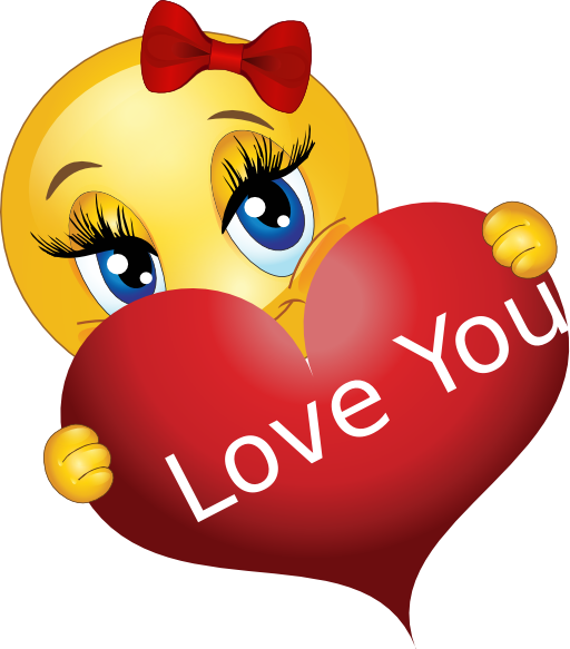Love You Girl Smiley Emoticon Clipart Royalty Free Public Domain