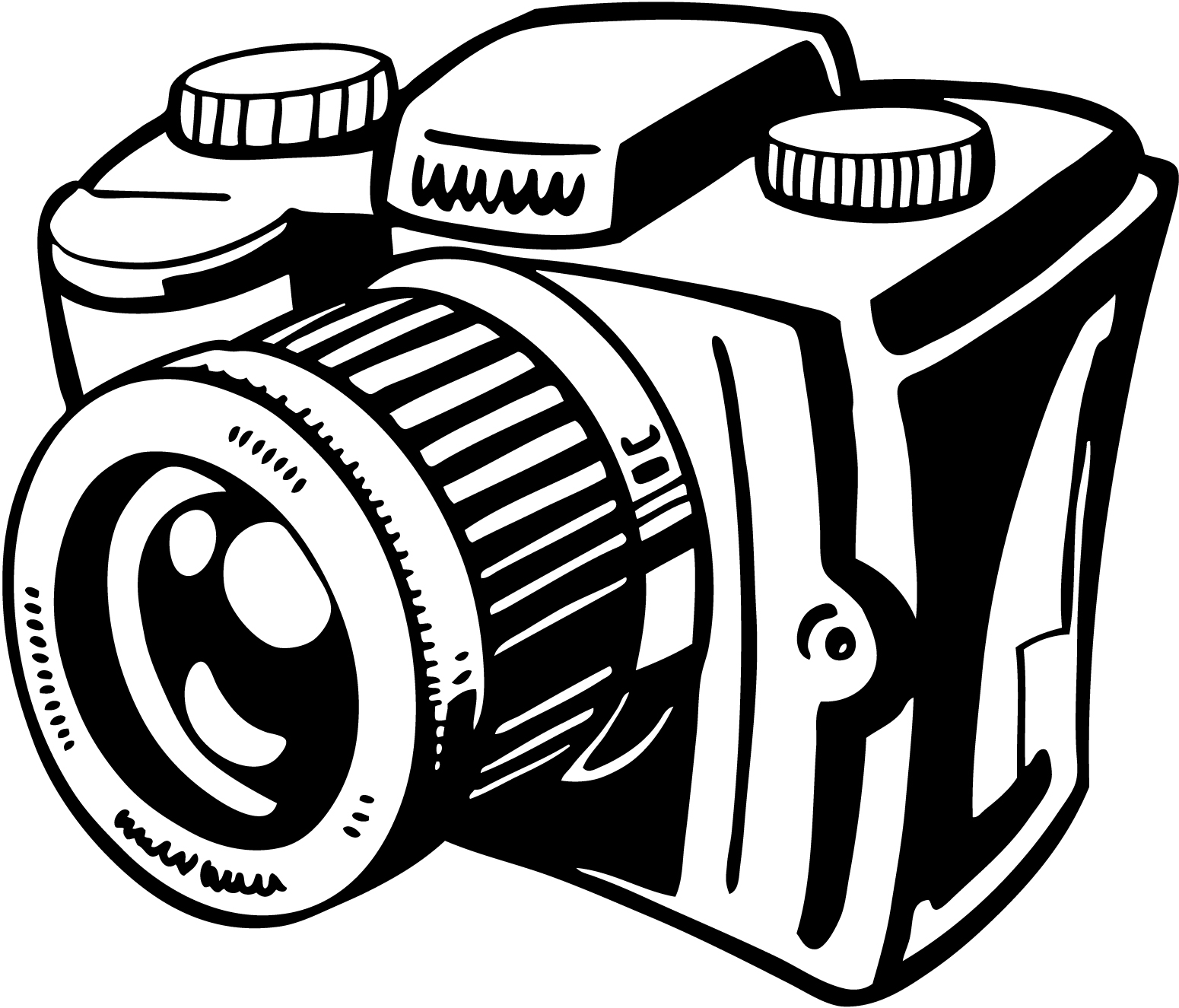 Camera white. Clipart black and