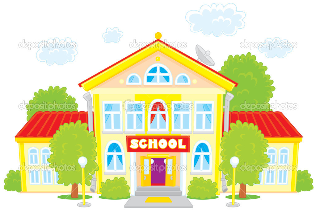 Lovely School Building Clipart .-Lovely School Building Clipart .-8