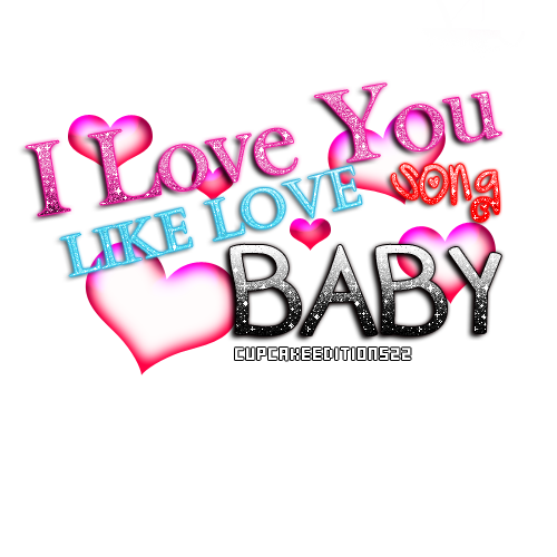 I love You Like Love Song PNG text by CupcakeEditions22 ClipartLook.com