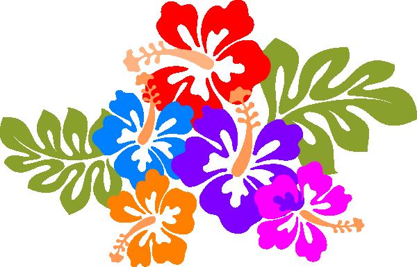 Luau Flower Clip Art Clipart  - Luau Clipart
