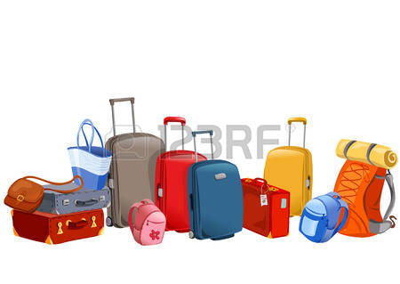Luggage, Suitcases, Backpacks, Packages -luggage, suitcases, backpacks, packages illustration-11