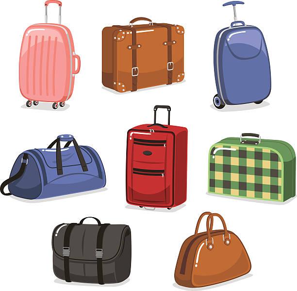 Travel Luggage Cartoon Set Vector Art Il-travel Luggage cartoon set vector art illustration-15