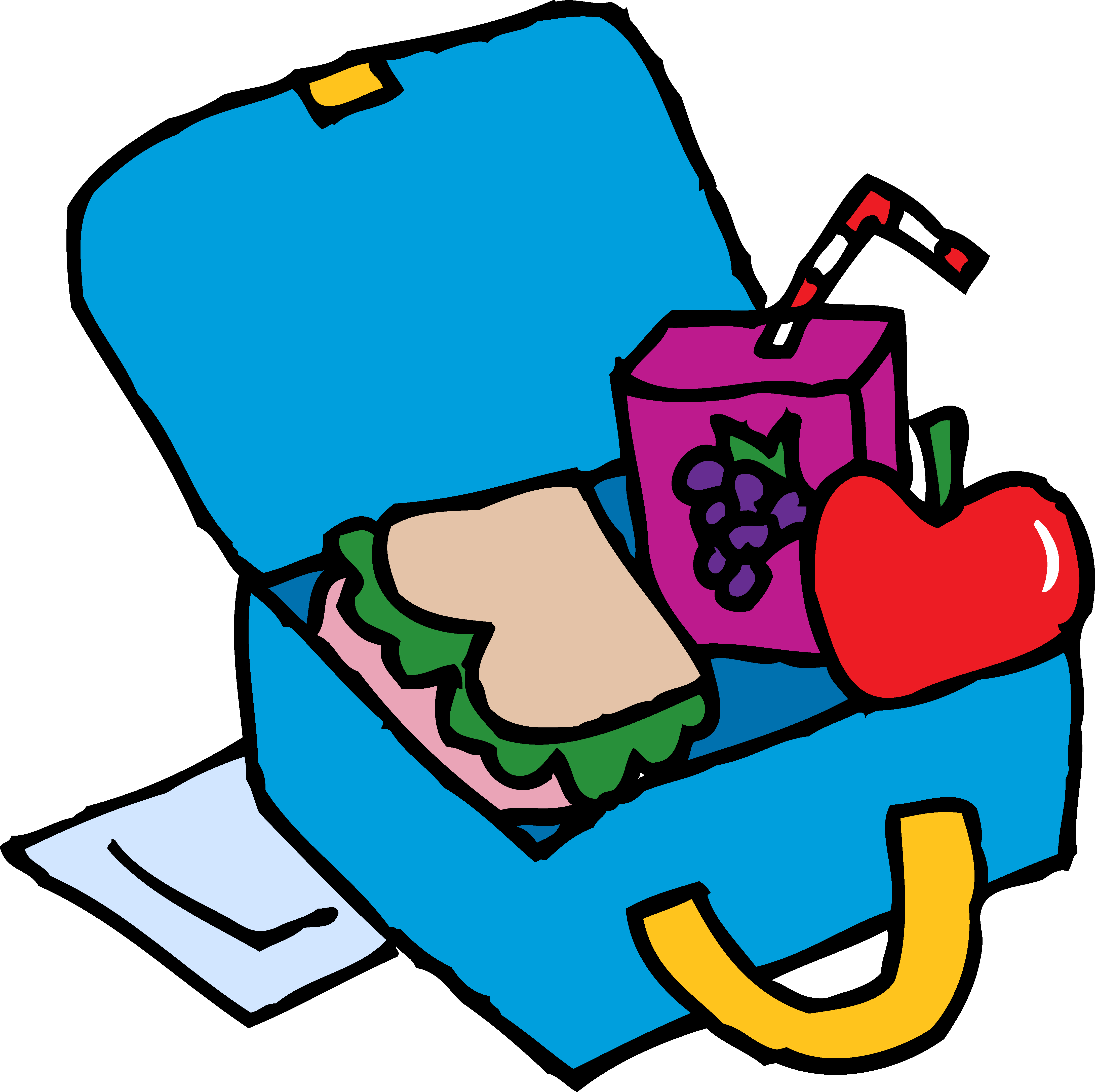 Lunch Box Clipart Black And White Clipart Free Clipart