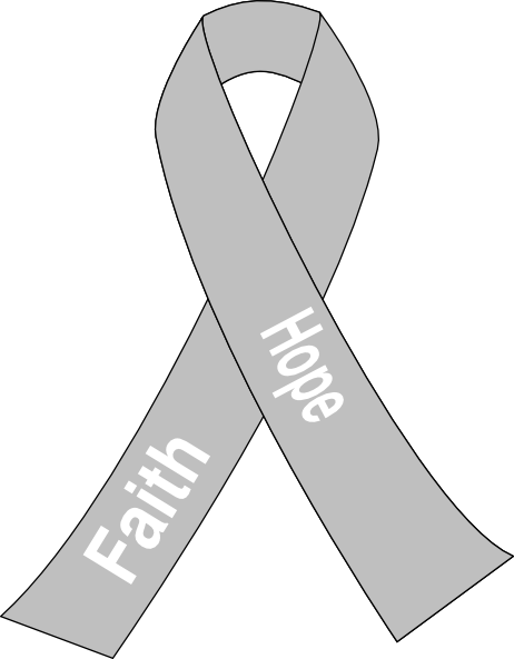 White Lung Cancer Ribbon