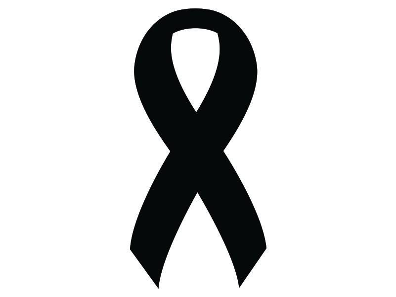 Lung cancer ribbon clip art