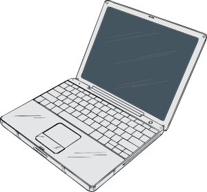mac laptop clipart