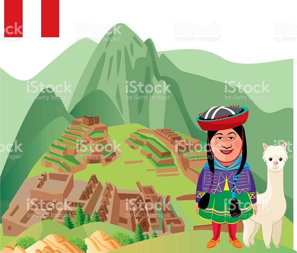 Machu Picchu royalty-free machu picchu stock vector art u0026amp; more images  of alpaca
