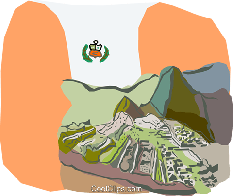 The ruins of Machu Picchu Peru Royalty F-The ruins of Machu Picchu Peru Royalty Free Vector Clip Art illustration-11