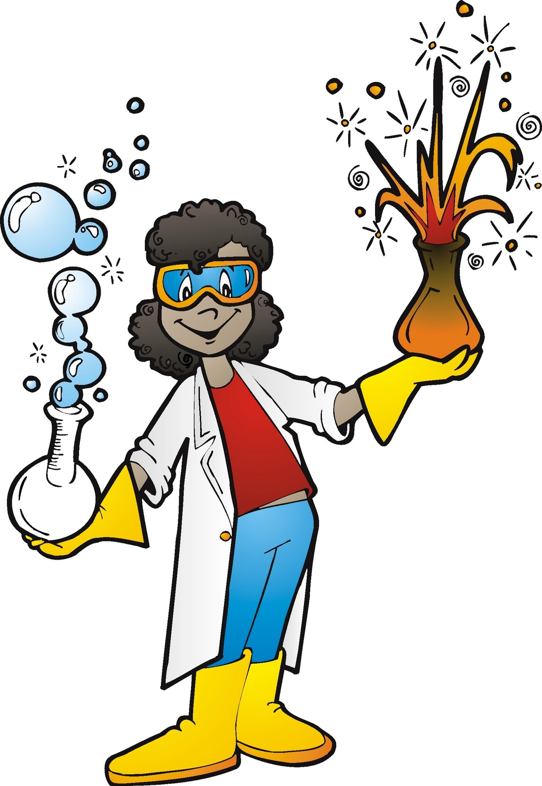 mad science lab clipart