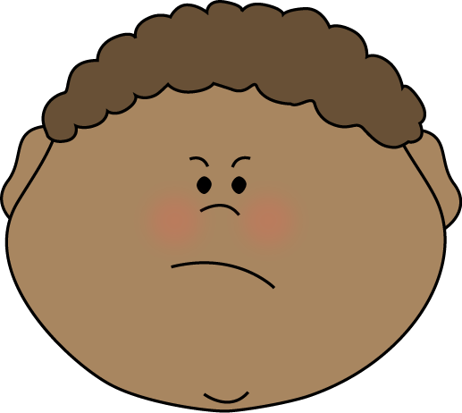 Mad face annoyed face clipart kid