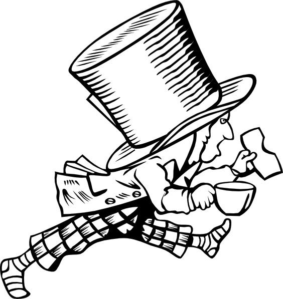 Mad Hatter clip art - Mad Hatter Clip Art