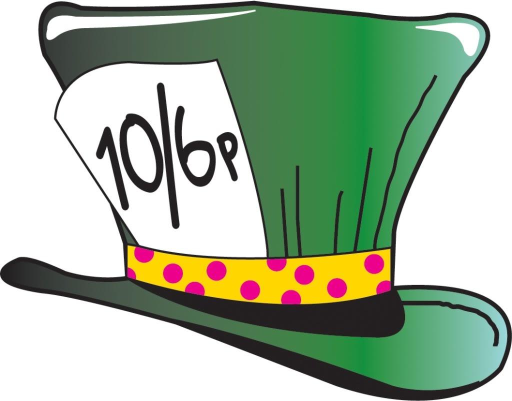 Mad Hatter Hat Clip Art Image - Mad Hatter Clip Art