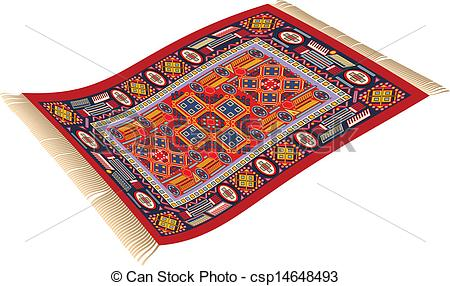 Magic Carpet - illustration of magic carpet (flying carpet).