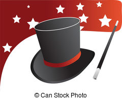 ... Magic hat vector