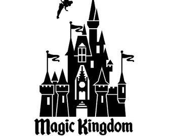 Magic Kingdom Logo Clip Art Disney Castle Clipart Black