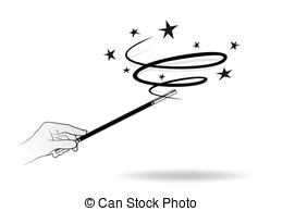 ... magic wand - abstract illustration of a magic wand with... ...