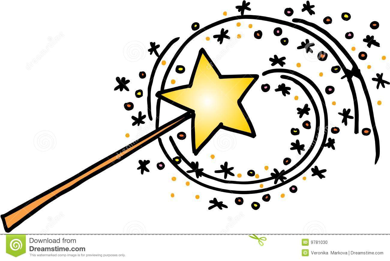 Magic Wand With A Trail Of Stars Vector Image On White Background