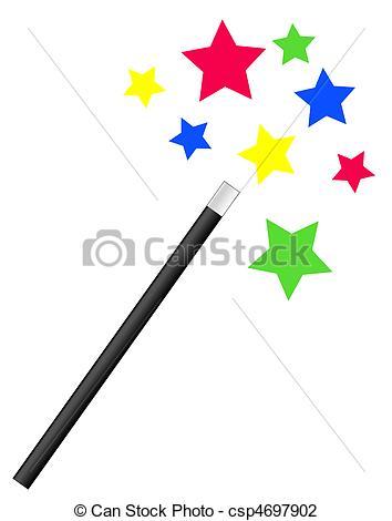 ... magic wand with bright stars - magic or magician\u0026#39;s wand... magic wand with bright stars Clip Artby ...