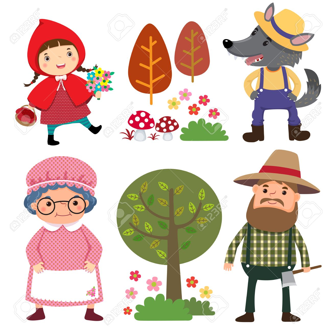 Character Clipart red riding hood