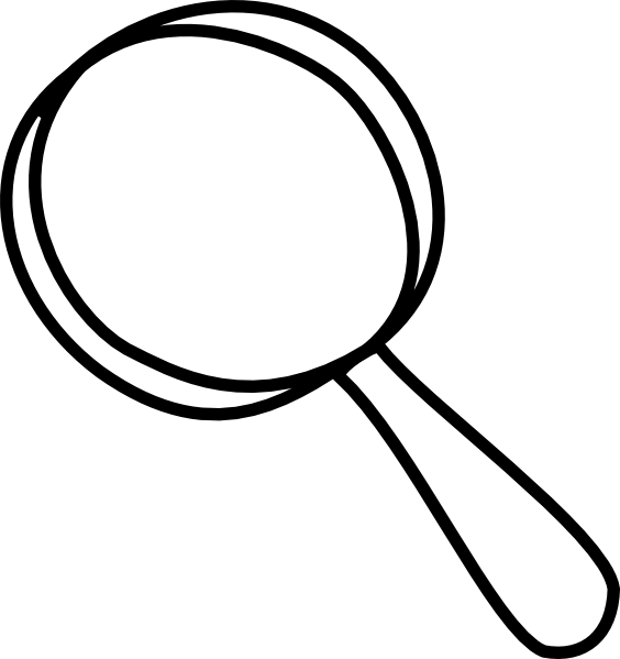 Magnifying glass magnifyer .