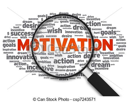 ... Magnifying Glass - Motivation - Magnified illustration with.