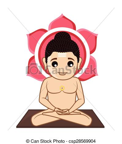 Lord Mahavira Cartoon God - Csp28569904-Lord Mahavira Cartoon God - csp28569904-10