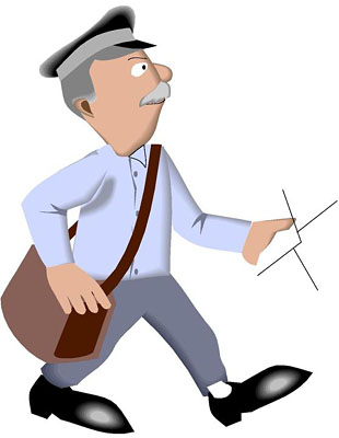 Mail Carrier Clipart; Us Mailman Clipart ...