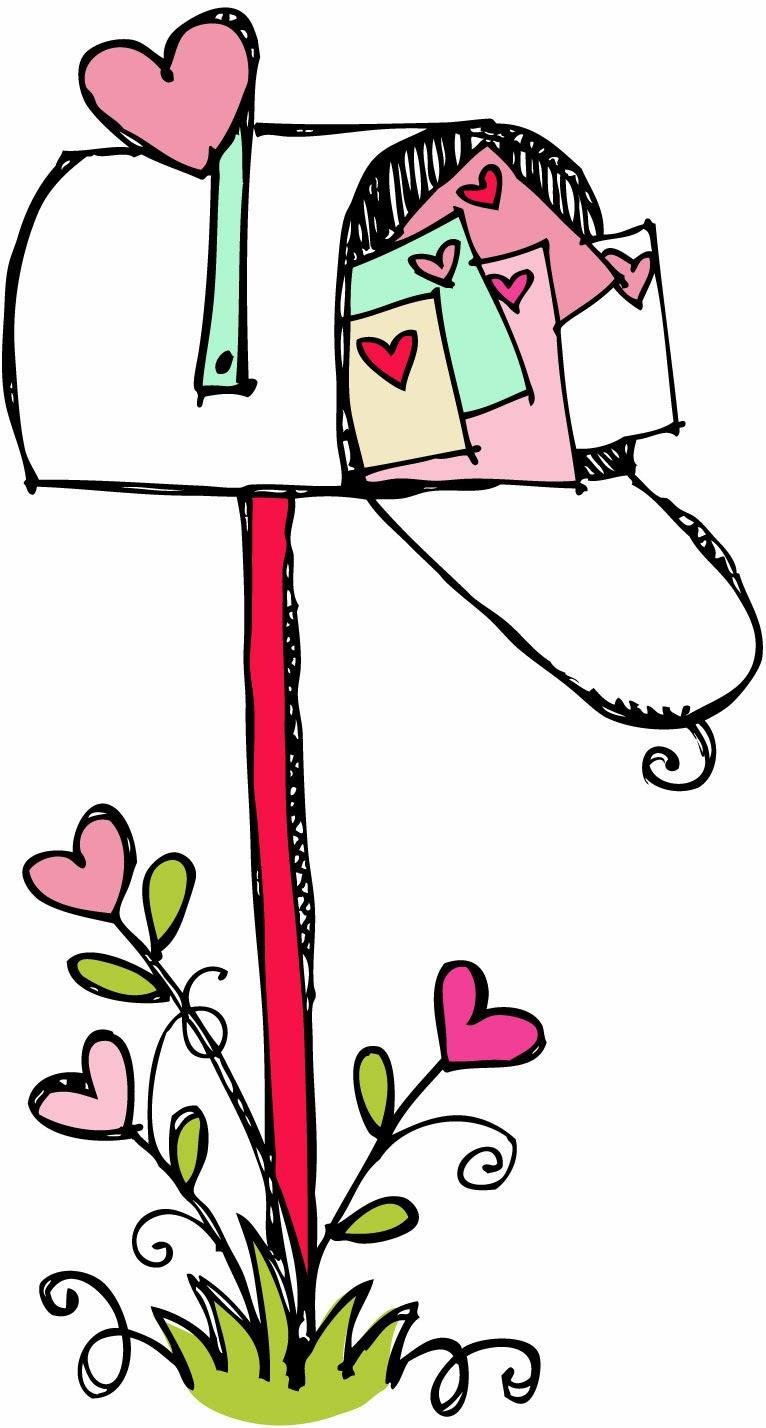 Mailbox Clipart Black And White Happy Va-Mailbox Clipart Black And White Happy Valentines Day-19