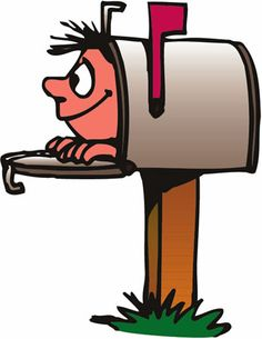 Mailbox post office worker clip art carr-Mailbox post office worker clip art carrier delivering mail into a-17