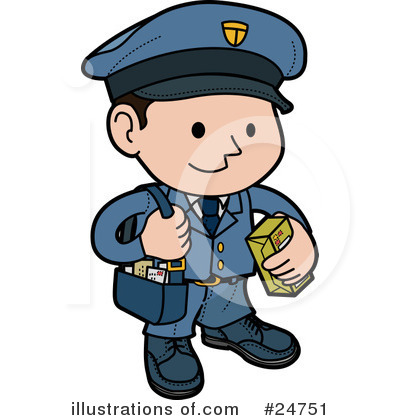 Mailman Clipart 24751 Illustration By Geo Images
