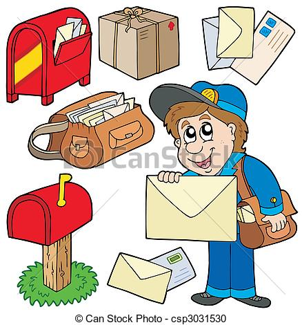 ... mailman Clipartby gnicolson7/2,040; Mail collection on white background - vector illustration.