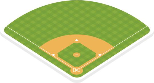 Major league baseball field .