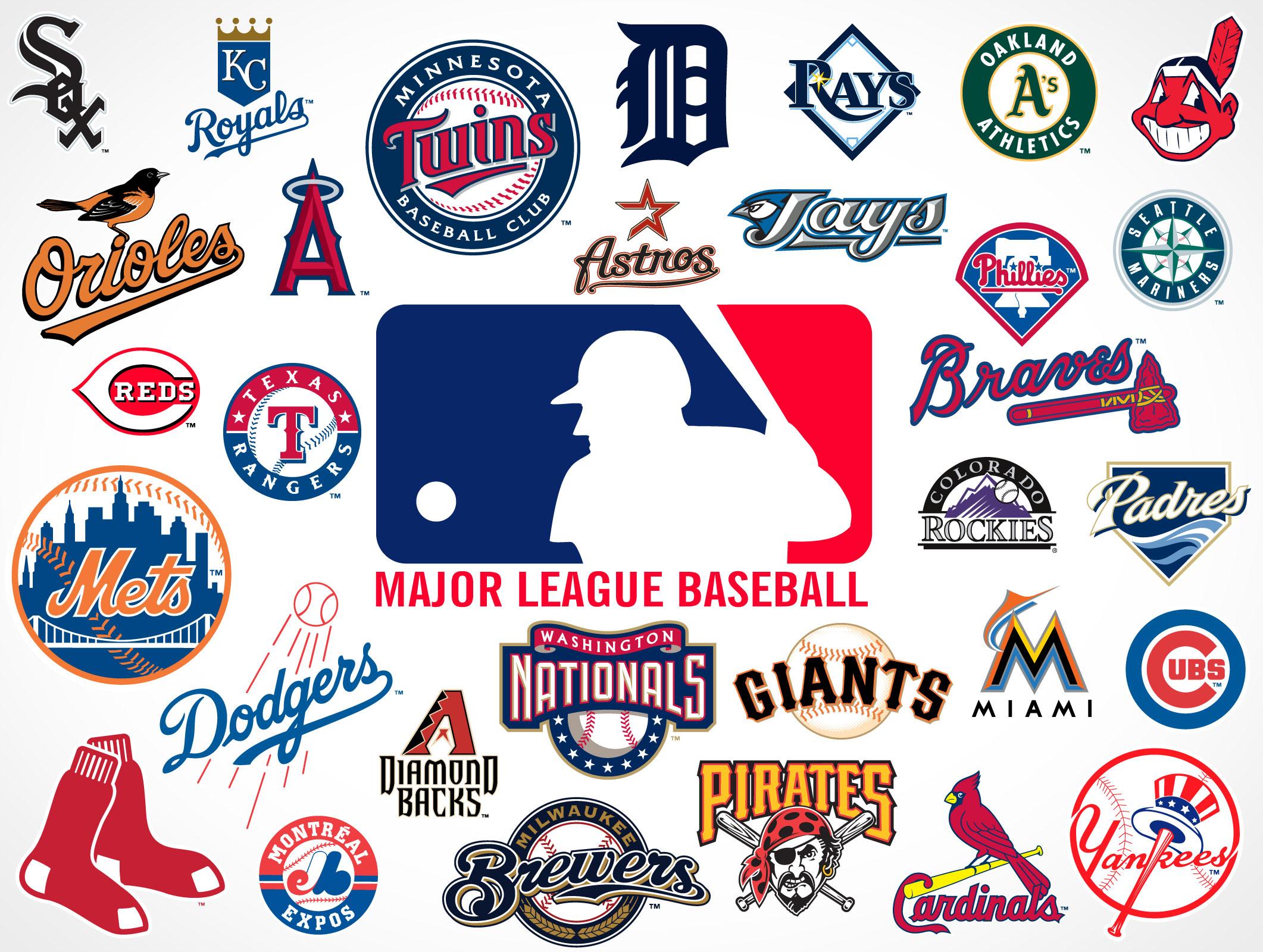 Major League Baseball Team Logos Market Your Psd Mockups For Logos