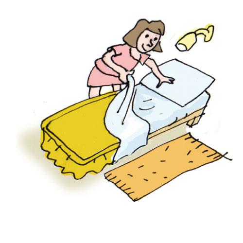 Make bed making bed cliparts  - Make Bed Clip Art