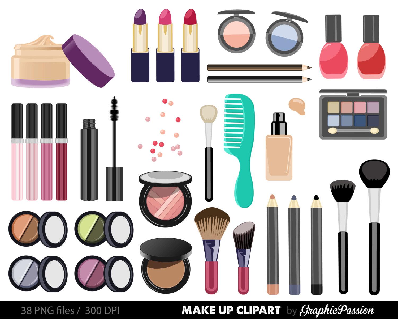 Make up Collection Digital Clipart Beaut-Make up Collection Digital Clipart Beauty Clipart Cosmetic clipart Nail polish clipart Girly Clipart Make up clip art INSTANT DOWNLOAD-3
