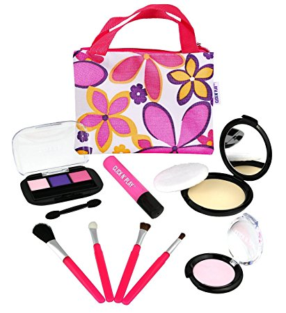 Click Nu0027 Play Pretend Play Cosmetic and Makeup Set with Floral Tote Bag