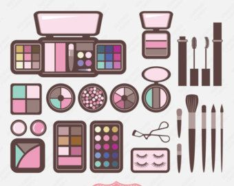 Cosmetic Kit Clip Art | Popul - Makeup Kit Products Clipart