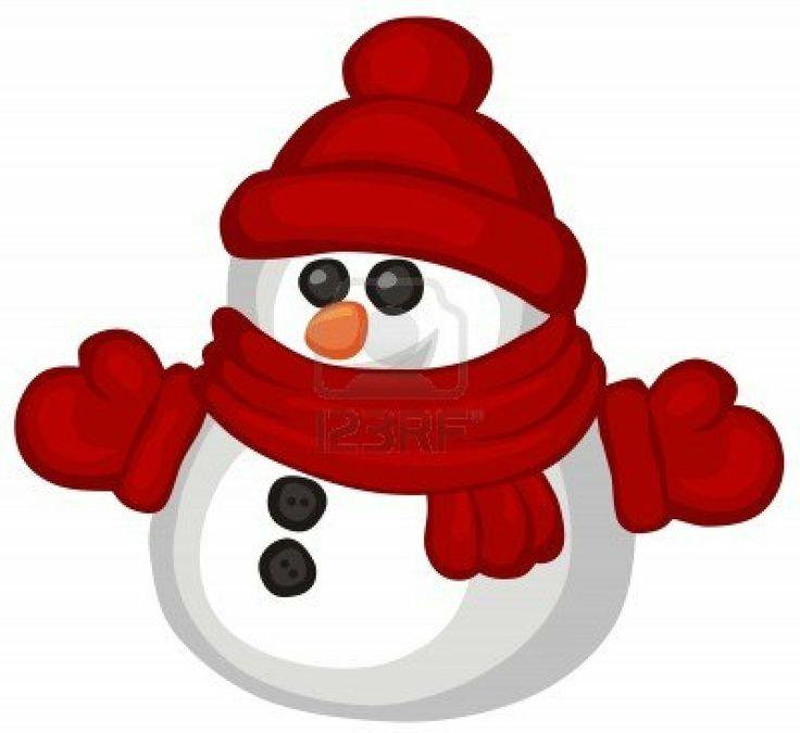 Making a snowman clip art clipart image