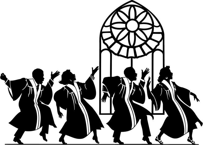 Male Gospel Singers Clipart