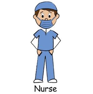 Male nurse clipart